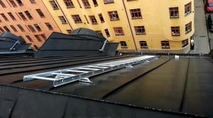 Taksäkerhet, takstegar. Kungsholmen Stockholm.